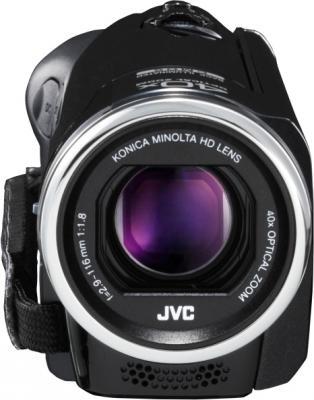 Видеокамера JVC GZ-E105 (Black) - вид спереди