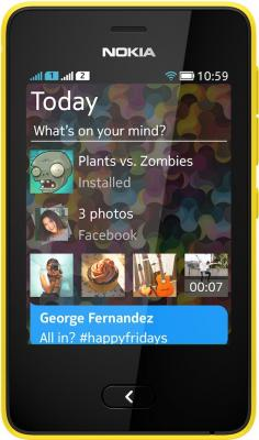Мобильный телефон Nokia Asha 501 Dual (Yellow) - общий вид