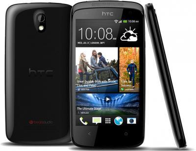 Смартфон HTC Desire 500 Dual (Black) - задняя, передняя и боковая панели