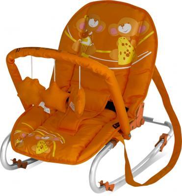 Детский шезлонг Lorelli Top Relax (Orange Mice) - общий вид