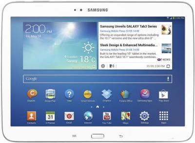 Планшет Samsung Galaxy Tab 3 10.1 GT-P5200 (16GB 3G White) - фронтальный вид