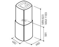 Вытяжка коробчатая Elica CHROME EDS IX/A/58 - схема
