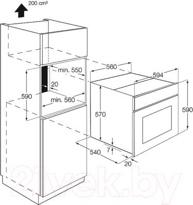 Электрический духовой шкаф Zanussi ZOB32701BK