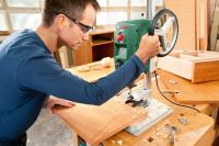 Сверлильный станок Bosch PBD 40 (0.603.B07.000) - в работе