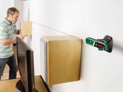 Уровень лазерный Bosch PLL 1 P (0.603.663.320) - в работе