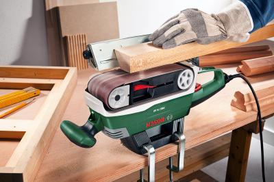 Ленточная шлифовальная машина Bosch PBS 75 AE (0.603.2A1.120) - в работе