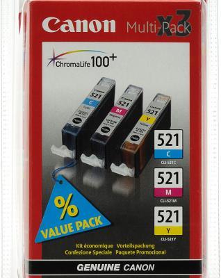 Комплект картриджей Canon CLI-521 MultiPack - общий вид