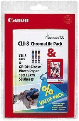 Комплект картриджей Canon CLI-8 MultiPack (0621B015) - общий вид