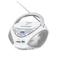 Магнитола BBK BX108U (бело-серый) -
