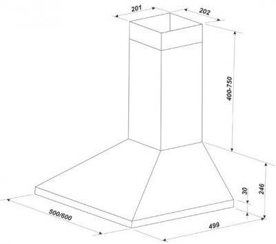 Вытяжка купольная Zorg Technology KM (Eco) 750 (60, Beige) - схема