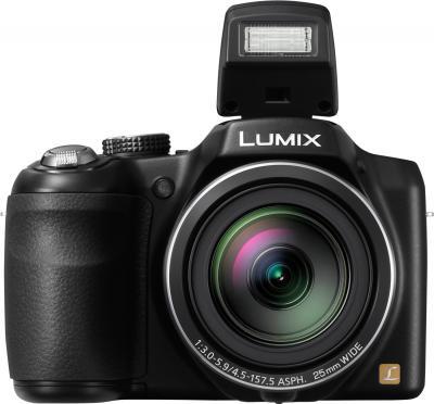 Компактный фотоаппарат Panasonic Lumix DMC-LZ30 (DMC-LZ30EE-К) - вид спереди