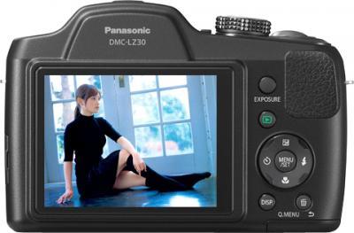 Компактный фотоаппарат Panasonic Lumix DMC-LZ30 (DMC-LZ30EE-К) - вид сзади