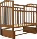 Кроватка Агат Золушка 3 (орех) -