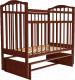 Кроватка Агат Золушка 3 (вишня) -