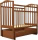 Кроватка Агат Золушка 4 (орех) -
