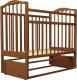 Кроватка Агат Золушка 5 (орех) -