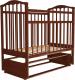 Кроватка Агат Золушка 5 (вишня) -
