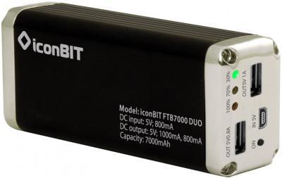 Портативный аккумулятор IconBIT FTB7000DUO - общий вид