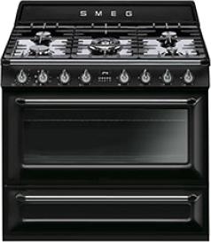 Кухонная плита Smeg TR90BL - общий вид