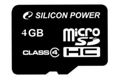 Карта памяти Silicon Power microSDHC (Class 4) 4 Gb (SP004GBSTH004V10) - общий вид