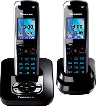 Беспроводной телефон Panasonic KX-TG8422 (Black KX-TG8422RUB) - общий вид
