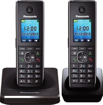 Беспроводной телефон Panasonic KX-TG8552 (черный) - общий вид