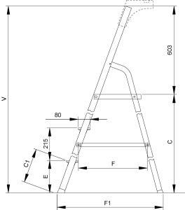 Лестница-стремянка Elkop ALW506 - схема