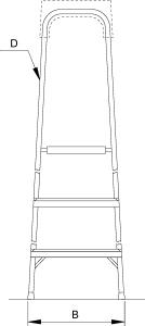 Лестница-стремянка Elkop ALW508 - схема
