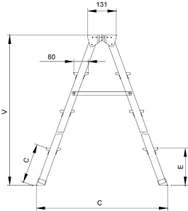 Лестница-стремянка Elkop DHR407 - схема