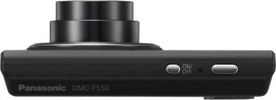 Компактный фотоаппарат Panasonic Lumix DMC-FS50EE-K - вид сверху