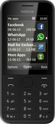 Мобильный телефон Nokia 208 (Black) - общий вид