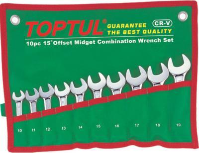 Набор однотипного инструмента Toptul GAAA1001 (10 предметов) - общий вид