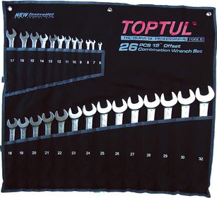 Набор однотипного инструмента Toptul GPAB2602 (26 предметов) - общий вид
