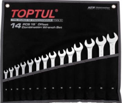 Набор однотипного инструмента Toptul GPAB1404 (14 предметов) - общий вид
