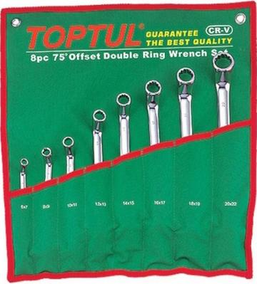 Набор однотипного инструмента Toptul GAAA0810 (8 предметов) - общий вид
