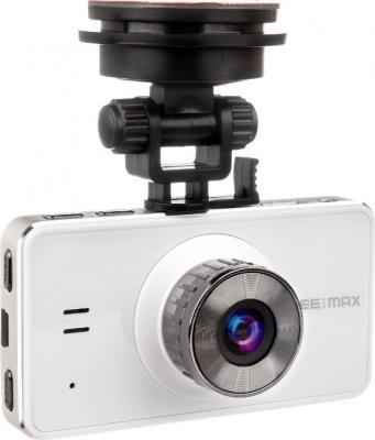 Автомобильный видеорегистратор SeeMax DVR RG520 (White) - общий вид с креплением