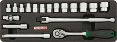 Универсальный набор инструментов Toptul GCAT1808 (18 предметов) - общий вид