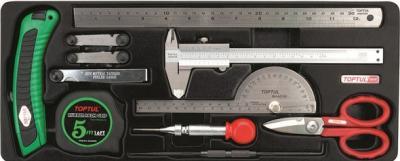 Универсальный набор инструментов Toptul GCAT1101 (11 предметов) - общий вид