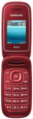 Мобильный телефон Samsung E1272 (красный) - общий вид