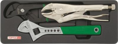 Набор губцевого инструмента Toptul GBAT0301 (3 предмета) - общий вид