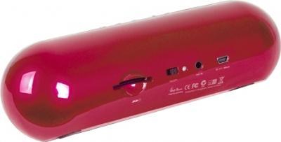 Портативная колонка Divoom iTour-boom (красный) - вид сзади