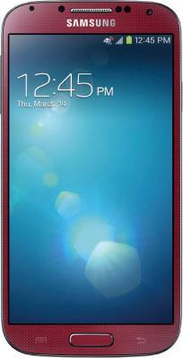 Смартфон Samsung Galaxy S4 16Gb / I9500 (красный) - общий вид