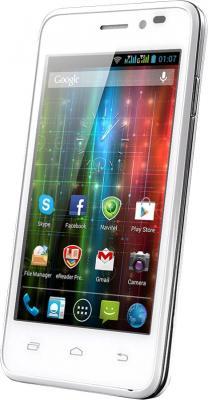 Смартфон Prestigio Multiphone 5400 Duo (белый + подарок) - общий вид