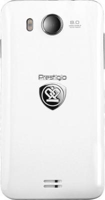 Смартфон Prestigio Multiphone 5400 Duo (белый + подарок) - задняя панель
