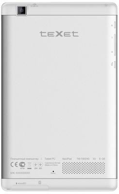 Планшет TeXet NaviPad TM-7055HD (White-Silver) - вид сзади