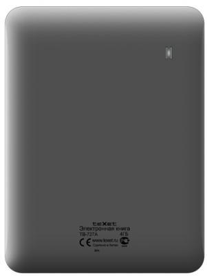 Электронная книга TeXet TB-727A (Graphite) - вид сзади