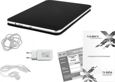 Электронная книга TeXet TB-883A (Gray) - комплектация