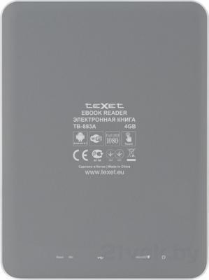 Электронная книга TeXet TB-883A (Gray) - вид сзади