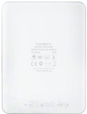 Электронная книга TeXet TB-883A (White) - вид сзади