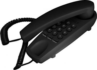 Проводной телефон TeXet TX-225 (Black) - общий вид